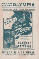 The Mark of Zorro - Egyptian Movie Poster (xs thumbnail)