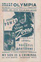 The Mark of Zorro - Egyptian Movie Poster (xs thumbnail)