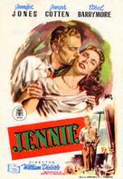 Portrait of Jennie - Spanish Movie Poster (xs thumbnail)
