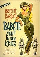 Babette s'en va-t-en guerre - German Movie Poster (xs thumbnail)