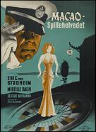 Macao, l'enfer du jeu - Danish Movie Poster (xs thumbnail)