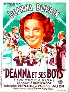 One Hundred Men and a Girl - French Movie Poster (xs thumbnail)