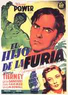 Son of Fury: The Story of Benjamin Blake - Spanish Movie Poster (xs thumbnail)