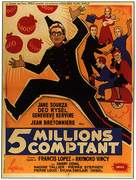 Cinq millions comptant - French Movie Poster (xs thumbnail)