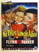 Never Say Goodbye - Belgian Movie Poster (xs thumbnail)