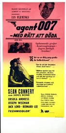 Dr. No - Swedish Re-release movie poster (xs thumbnail)