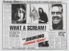 The Shining - British Advance movie poster (xs thumbnail)
