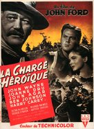 She Wore a Yellow Ribbon - French Movie Poster (xs thumbnail)