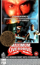 Maximum Overdrive - British VHS movie cover (xs thumbnail)