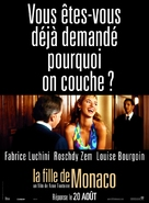 La fille de Monaco - French Movie Poster (xs thumbnail)