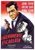 Slightly Scarlet - Spanish Movie Poster (xs thumbnail)