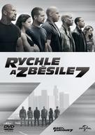 Furious 7 - Czech DVD movie cover (xs thumbnail)