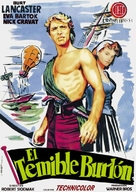 The Crimson Pirate - Spanish Movie Poster (xs thumbnail)