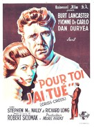 Criss Cross - French Movie Poster (xs thumbnail)