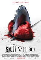 Saw 3D - Spanish Movie Poster (xs thumbnail)