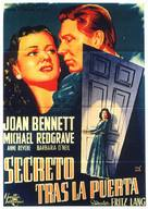 Secret Beyond the Door... - Spanish Movie Poster (xs thumbnail)