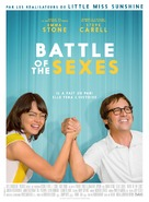 Battle of the Sexes - French Movie Poster (xs thumbnail)