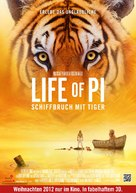 Life of Pi - German Movie Poster (xs thumbnail)