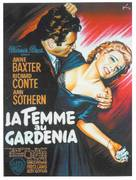 The Blue Gardenia - French Movie Poster (xs thumbnail)