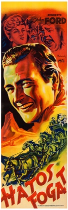 Stagecoach - Hungarian Movie Poster (xs thumbnail)