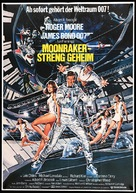 Moonraker - German Movie Poster (xs thumbnail)