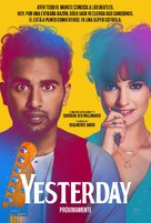 Yesterday - Colombian Movie Poster (xs thumbnail)