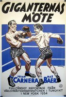 The Prizefighter and the Lady - Swedish Movie Poster (xs thumbnail)