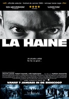 La haine - Dutch Movie Poster (xs thumbnail)