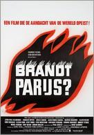 Paris brûle-t-il? - Belgian Movie Poster (xs thumbnail)