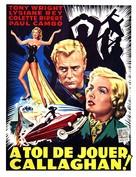 À toi de jouer, Callaghan - Belgian Movie Poster (xs thumbnail)