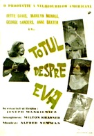 All About Eve - Romanian Movie Poster (xs thumbnail)