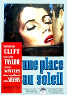 A Place in the Sun - French Movie Poster (xs thumbnail)