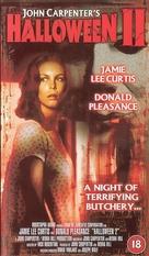 Halloween II - British VHS movie cover (xs thumbnail)