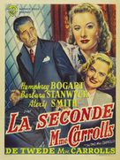 The Two Mrs. Carrolls - Belgian Movie Poster (xs thumbnail)