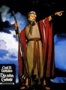 The Ten Commandments - German poster (xs thumbnail)