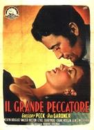 The Great Sinner - Italian Movie Poster (xs thumbnail)