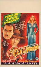 The Glass Key - Belgian Movie Poster (xs thumbnail)