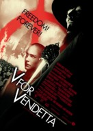 V for Vendetta - Norwegian Movie Poster (xs thumbnail)