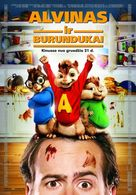 Alvin and the Chipmunks - Lithuanian Movie Poster (xs thumbnail)