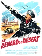 The Desert Fox: The Story of Rommel - French Movie Poster (xs thumbnail)