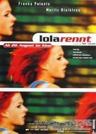 Lola Rennt - German Movie Poster (xs thumbnail)