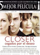 Closer - Spanish Movie Poster (xs thumbnail)