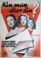A Letter to Three Wives - Swedish Movie Poster (xs thumbnail)