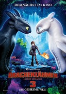 How to Train Your Dragon: The Hidden World - German Movie Poster (xs thumbnail)