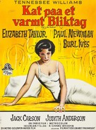 Cat on a Hot Tin Roof - Danish Movie Poster (xs thumbnail)