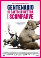 Hundraåringen som klev ut genom fönstret och försvann - Italian Movie Poster (xs thumbnail)