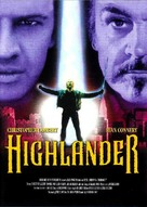 Highlander - Danish Movie Poster (xs thumbnail)
