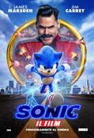 Sonic the Hedgehog - Italian Movie Poster (xs thumbnail)