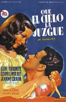 Leave Her to Heaven - Spanish Movie Poster (xs thumbnail)