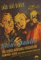 The Blue Dahlia - German Movie Poster (xs thumbnail)